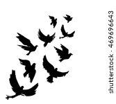 illustration of birds... | Shutterstock .eps vector #469696643