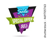 special offer sale banner.... | Shutterstock .eps vector #469705763