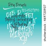 calligraphy alphabet written... | Shutterstock .eps vector #469720937