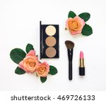 decorative flat lay composition ... | Shutterstock . vector #469726133