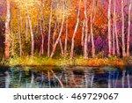 oil painting landscape  ... | Shutterstock . vector #469729067