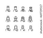 doctor icons  nurse symbols ... | Shutterstock .eps vector #469729517