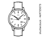 vector sketch retro wrist watch | Shutterstock .eps vector #469735073