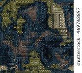 seamless pattern of patchwork.... | Shutterstock .eps vector #469763897