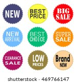 sale promo labels and stickers... | Shutterstock .eps vector #469766147