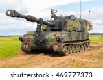 American Howitzer Stands On A...