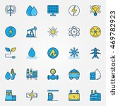 industrial colorful icons.... | Shutterstock .eps vector #469782923