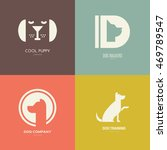 set of logotypes with dogs. dog ... | Shutterstock .eps vector #469789547