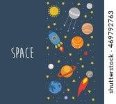 fun space illustration. vector. | Shutterstock .eps vector #469792763