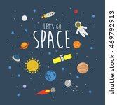 fun space illustration. vector. | Shutterstock .eps vector #469792913