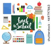 set of different items for... | Shutterstock . vector #469797863