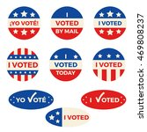 "set of nine different ""i voted"" ... 
