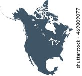 map of north america | Shutterstock .eps vector #469809077