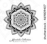 tibetan mandala decorative...   Shutterstock .eps vector #469809407