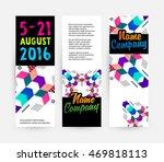 banners set  trendy geometric... | Shutterstock .eps vector #469818113