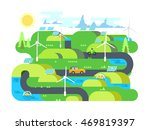 green energy flat design | Shutterstock .eps vector #469819397