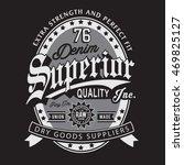 denim vintage typography  t... | Shutterstock .eps vector #469825127