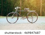 old bicycle with vintage effect ... | Shutterstock . vector #469847687