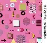 trendy geometric elements... | Shutterstock .eps vector #469865453