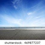 asphalt road and sea coast line ... | Shutterstock . vector #469877237