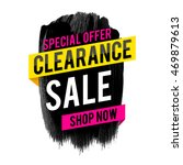 clearance sale and special... | Shutterstock .eps vector #469879613