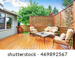 spacious wooden deck with patio ... | Shutterstock . vector #469892567