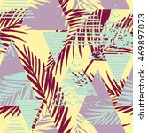 trendy seamless exotic pattern... | Shutterstock .eps vector #469897073