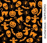 halloween seamless background... | Shutterstock .eps vector #469919093