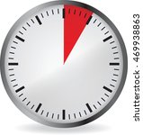 clock with red 5 minute... | Shutterstock .eps vector #469938863