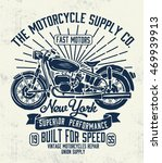 motorcycle typography  t shirt... | Shutterstock .eps vector #469939913