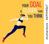 motivating sports poster with... | Shutterstock .eps vector #469949867