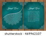 set of cards or invitations... | Shutterstock .eps vector #469962107