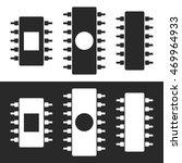 chip. microchip. vector... | Shutterstock .eps vector #469964933
