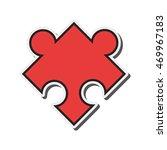 flat design puzzle piece icon...