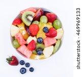 fruit salad in bowl   Shutterstock . vector #469969133