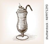 milk shake sketch style vector... | Shutterstock .eps vector #469971293