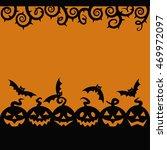 6 halloween pumpkins | Shutterstock .eps vector #469972097