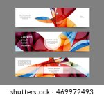 set of web banner templates for ... | Shutterstock .eps vector #469972493