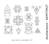 sacred geometry signs set.... | Shutterstock .eps vector #469973927