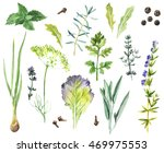 watercolor collection of hand... | Shutterstock . vector #469975553