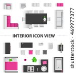 set top view for interior icon... | Shutterstock . vector #469977377