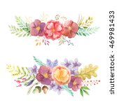 set of hand painted watercolor... | Shutterstock . vector #469981433