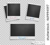 set of retro photo frames with... | Shutterstock .eps vector #469994597