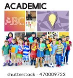 academic education children... | Shutterstock . vector #470009723
