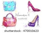women's accessories poster.... | Shutterstock .eps vector #470010623