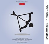 web line icon. cupid's arrow. | Shutterstock .eps vector #470012237