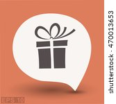 pictograph of gift   Shutterstock .eps vector #470013653