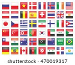 set of flags in the form of... | Shutterstock .eps vector #470019317
