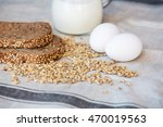whole wheat bread with bio and...   Shutterstock . vector #470019563