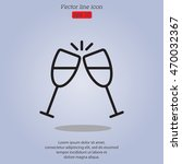 web line icon. glasses of...   Shutterstock .eps vector #470032367